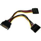 StarTech.com 6in SATA Power Y Splitter Cable Adapter - M/F