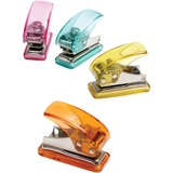 "Baumgartens Mini Hole Punch - 1 Punch Head(s) - 1/4"" Punch Size - 3.5"" x 2"" x 3"" - Assorted BAU20270"
