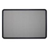 "SKILCRAFT Wallboard Fabric Bulletin Board - 24"" x 36"" - Fabric Surface - Plastic Frame NSN5679523"