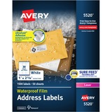AVE5520 - Avery Weatherproof Durable Laser Labels
