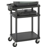 SAF8933BL - Safco Adjustable Plastic AV Cart