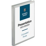 "Business Source Standard Presentation Binder - 1/2"" Binder Capacity - Letter - 8 1/2"" x 11"" Sheet Si BSN09980"