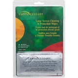 Compucessory Large Screen Cleaning/Protection Wipe - For Display Screen - Alcohol-free - 10 / Pack - CCS56269