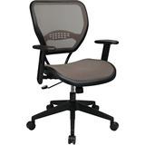 Office Star Space Latte Air Grid Seat & Back Deluxe Task Chair - 5-star Base - Black, Tan, Brown - 2 OSP5588N15