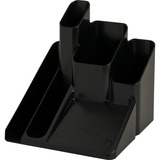 "Sparco Desk Organizer - 5 Compartment(s) - 6"" Height x 6"" Width x 6"" Depth - Desktop - Black - 1Each SPR11877"
