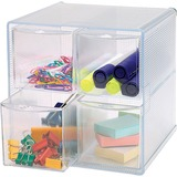 "Sparco Removeable Storage Drawer Organizer - 4 Drawer(s) - 6"" Height x 6"" Width x 7.3"" Depth - Clear SPR82977"