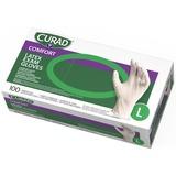 MIICUR8106 - Curad Powder Free Latex Exam Gloves