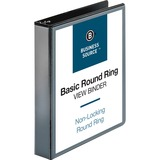 "Business Source Round Ring View Binder - 1 1/2"" Binder Capacity - Letter - 8 1/2"" x 11"" Sheet Size - BSN09954"