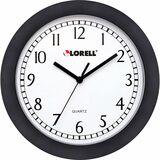 "LLR60987 - Lorell 9"" Round Profile Wall Clock"