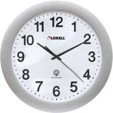 "LLR60996 - Lorell 12"" Round Radio-controlled Wall Clock"
