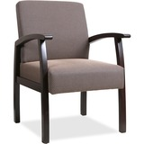 """Lorell Deluxe Guest Chair - Espresso Frame - Taupe - 24"""" Width x 25"""" Depth x 35.5"""" Height LLR68554"""