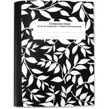 """Sparco Composition Book - 80 Sheets - Printed - 15 lb Basis Weight 7.50"""" x 10"""" - Bright White Paper  SPR65277"""
