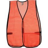 OccuNomix General Purpose Safety Vest - Mesh - Orange - 1 Each OCC81005