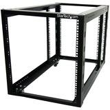 StarTech.com 12U 4 Post Server Equipment Open Frame Rack Cabinet w/ Adjustable Posts & Casters