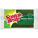 "Scotch-Brite Scrub Sponge - 2.8"" Height x 4.5"" Width - 1Each - Green, Yellow MMM420"