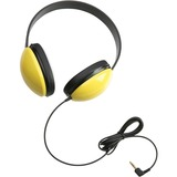 Califone Listening First Stereo Headphones - Stereo - Yellow - Mini-phone - Wired - 25 Ohm - Over-th CII2800YL