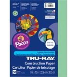 "Tru-Ray Sulphite Construction Paper - 12"" x 9"" - 76 lb Basis Weight - 50 / Pack - Light Green - Sulp PAC103015"