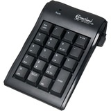 """SYBA Multimedia 19-Key Numeric Keypad with Built-in 40"""" USB Cable, Black"""