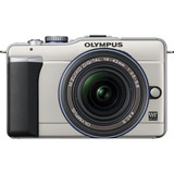 Olympus PEN E-PL1 12.3 Megapixel Mirrorless Camera with Lens - 14 mm - 42 mm - Champagne, Gold