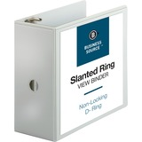 BSN28445 - Business Source Basic D-Ring White View Binder...