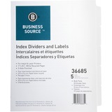 BSN36685 - Business Source Punched Laser Index Dividers