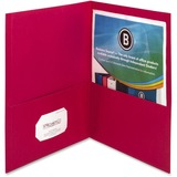 "Business Source Double Pocket Portfolio - Letter - 8 1/2"" x 11"" Sheet Size - 125 Sheet Capacity - 2  BSN78494"