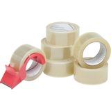 "SKILCRAFT 7510-01-579-6873 Packaging Tape with Dispenser - 2"" Width x 55 yd Length - Polypropylene - NSN5796873"