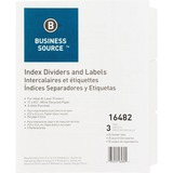 Business Source 3-Hole Punched Laser Index Tabs