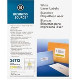 "Business Source Mailing Laser Label - Permanent Adhesive - 1"" Width x 4"" Length - Rectangle - Laser  BSN26112"