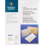 "Business Source Clear Address Label - Permanent Adhesive - 0.50"" Width x 1.75"" Length - Rectangle -  BSN26121"