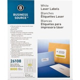 "Business Source Return Address Mailing Label - Permanent Adhesive - 0.50"" Width x 1.75"" Length - Rec BSN26108"