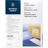 """Business Source Mailing Laser Label - Permanent Adhesive - 3.50"""" Width x 5"""" Length - Rectangle - Las BSN26120"""