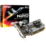 MSI N210-MD1G/D3 GeForce 210 Graphic Card - 589 MHz Core - 1 GB GDDR3 - PCI Express 2.0 x16 - Low-profile - Single Slot Space Required