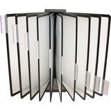 Business Source Tiltable Catalog Display Rack - 20 x Sheet - Black - Polypropylene - 1Each BSN62889