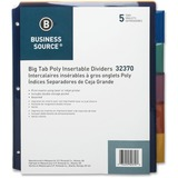 "Business Source Double Pocket Index Divider - 5 Tab(s) - Print-on - 8.50"" Divider Width x 11"" Divide BSN32370"