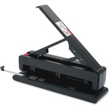 "Business Source Effortless 2-3 Hole Punch - 3 Punch Head(s) - 40 Sheet Capacity - 9/32"" Punch Size - BSN62878"