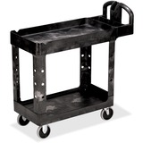 RCP450088BK - Rubbermaid Commercial HD 2-Shelf Utility Cart...