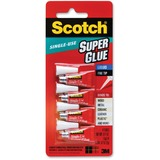 MMMAD114 - Scotch® Super Glue Liquid, 4-Pack of singl...