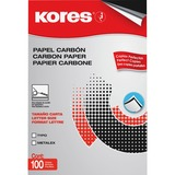 "Industrias Kores Carbon Paper - 8.50"" x 11"" - 100 / Box - Black ITKKOR115TWBK"