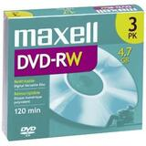 DVD-RW Discs, 4.7 GB, 2x, w/Jewel Cases, Gold, 3/Pack  MPN:635123