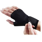 Dome Handeze Flex-fit Therapeutic Gloves - Small Size - Fabric - Black - Wrist Strap - For Healthcar DOM3733