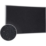 """Ghent Recycled Rubber Bulletin Board - Confetti - 24"""" Height x 36"""" Width - Rubber Surface - Aluminum GHEATR23CF"""