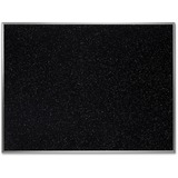 """Ghent Recycled Rubber Bulletin Board - Confetti - 36"""" Height x 48"""" Width - Rubber Surface - Aluminum GHEATR34CF"""