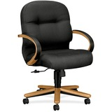 "HON Pillow-Soft 2192 Mid Back Management Chair - Fabric Charcoal Seat - 5-star Base - 22"" Seat Width HON2192CNT19"