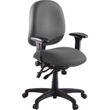 "Lorell High Performance Task Chair - Gray Seat - Metal Frame - 5-star Base - Gray - 20"" Seat Width x LLR60535"
