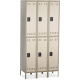 SAF5526TN - Safco Double-Tier Two-tone 3 Column Locker wi...