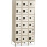 SAF5527TN - Safco Six-Tier Two-tone 3 Column Locker with Le...