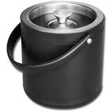 DACA1060 - Dacasso Classic Black Leather Ice Bucket