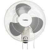 "Lorell Wall Mount Fan - 16"" Diameter - 3 Speed - Adjustable Tilt Head, Oscillating - 18.5"" Height x  LLR49256"