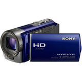 "Sony Handycam HDR-CX130 Digital Camcorder - 3"" - Touchscreen LCD - CMOS - Full HD, SD - Blue"